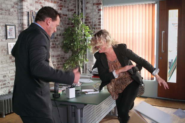 Janine loses her temper with Billy in EastEnders