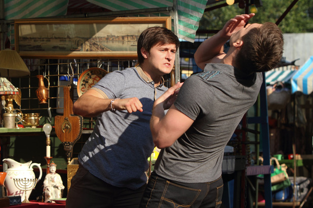 Tyler punches Joey in EastEnders
