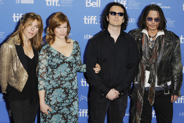 Amy Berg, Lorri Davis, Damien Echols, and Johnny Depp 2012 Toronto International Film Festival - West of Memphis - Photocall