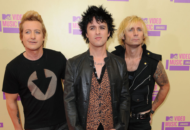 Green Day attend the MTV Video Music Awards 2012