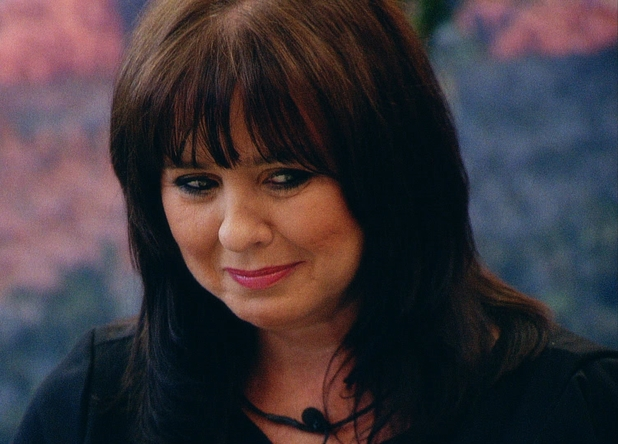 Coleen looks emotional