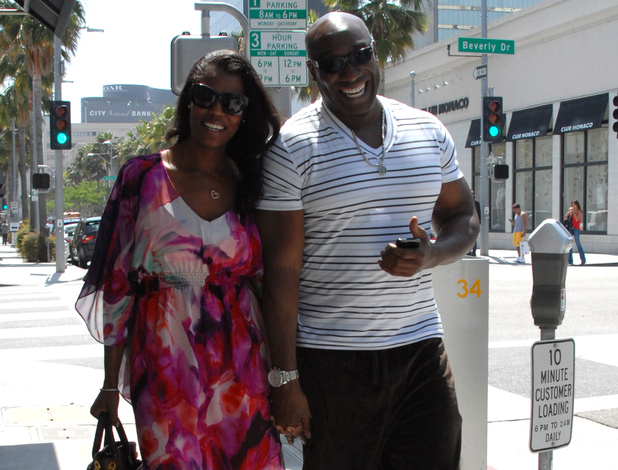 Michael Clarke Duncan and Omarosa Manigault-Stallworth take a walk through Beverly Hills Los Angeles, California - 07.05.12 Mandatory Credit: LIFE/WENN.com