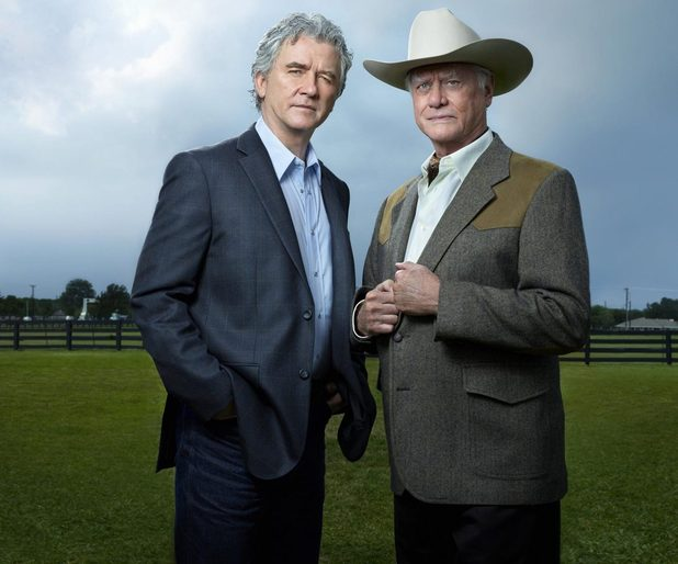 Patrick Duffy as Bobby Ewing and Larry Hagman as JR Ewing in Dallas