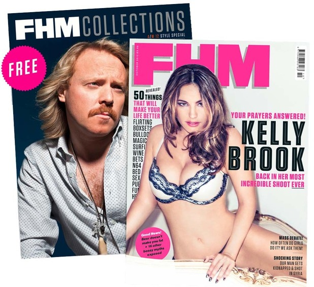 Kelly Brook and Keith Lemon for FHM