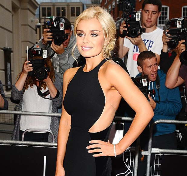 Katherine Jenkins arriving at the 2012 GQ Men Of The Year Awards at the Royal Opera House, London