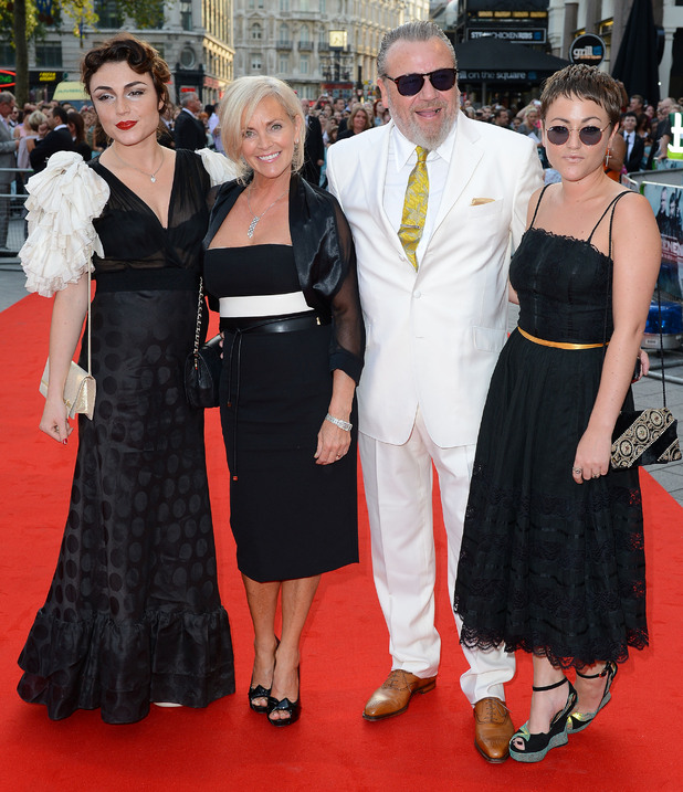 Lois Winstone, Elaine Winstone, Ray Winstone and Jaime Winstone, The Sweeney