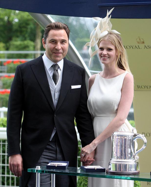 David Walliams with his wife Lara Stone
