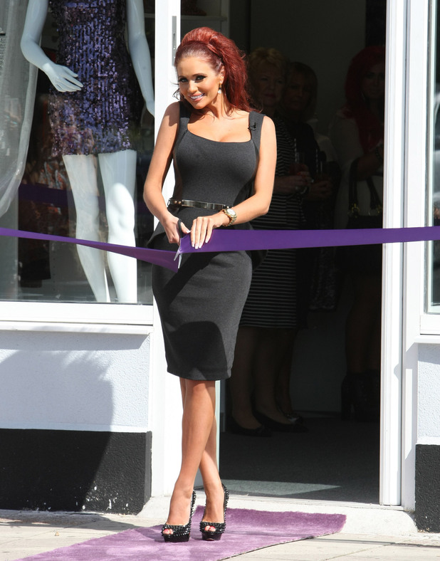 Amy Childs ribbon cutting