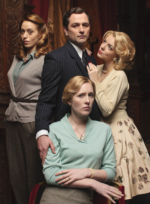 Sheridan, Smith, Jodhi May, Alice Orr Ewing and Matthew Rhys in The Scapegoat.