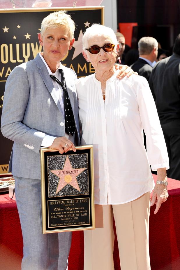 Ellen DeGeneres with her mother Betty