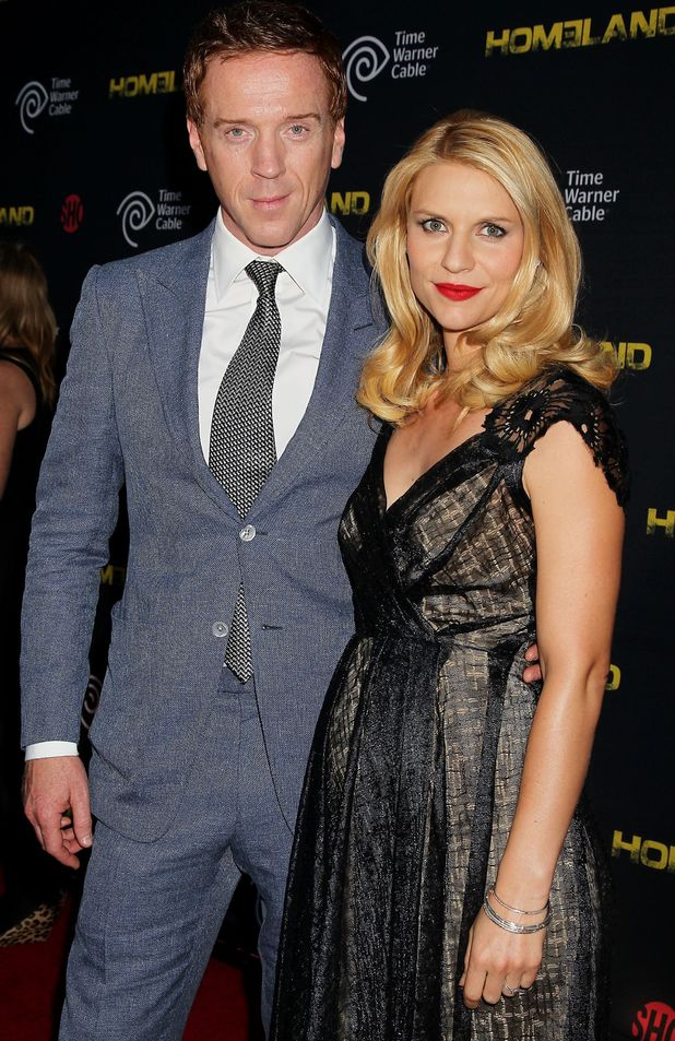 Damian Lewis and Claire Danes attend the Season 2 premiere of 'Homeland', New York.