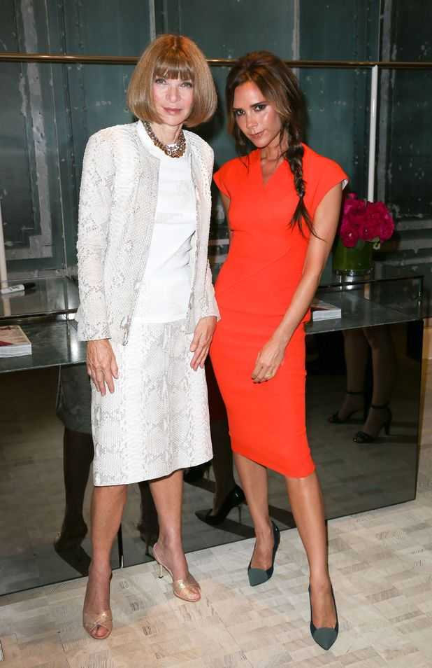 Anna Wintour and Victoria Beckham