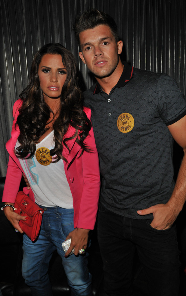 Katie Price and Leandro Penna, Jeans for Genes 2012 launch