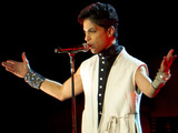 Singer Prince performing at the Way out West Festival held at Slottskogen Gothenburg Gothenburg, Sweden 12.08.11