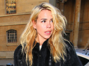Billie Piper outside the BBC Broadcasting House & Radio Theatre for the Chris Moyles Breakfast Show London