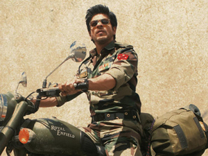 Shah Rukh Khan in a poster for 'Jab Tak Hain Jaan'