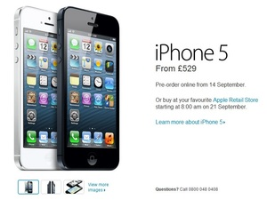 Apple iPhone 5 UK release date