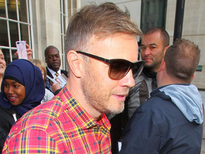 Gary Barlow outside the BBC Broadcasting House & Radio Theatre for the Chris Moyles Breakfast Show