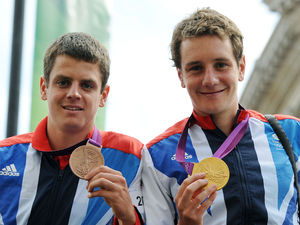 Jonathan (left) and Alistair Brownlee, London 2012