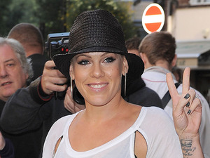 Pink aka Alecia Moore at the Radio 1 studios. London