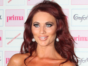 Amy Childs arriving at the Comfort Prima High Street Fashion Awards at Battersea Evolution Marquee