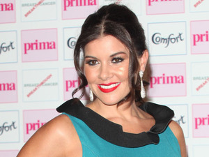 Imogen Thomas arriving at the Comfort Prima High Street Fashion Awards at Battersea Evolution Marquee