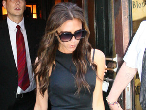 Victoria Beckham leaving the Balthazar restaurant in Soho, Manhattan New York City, USA