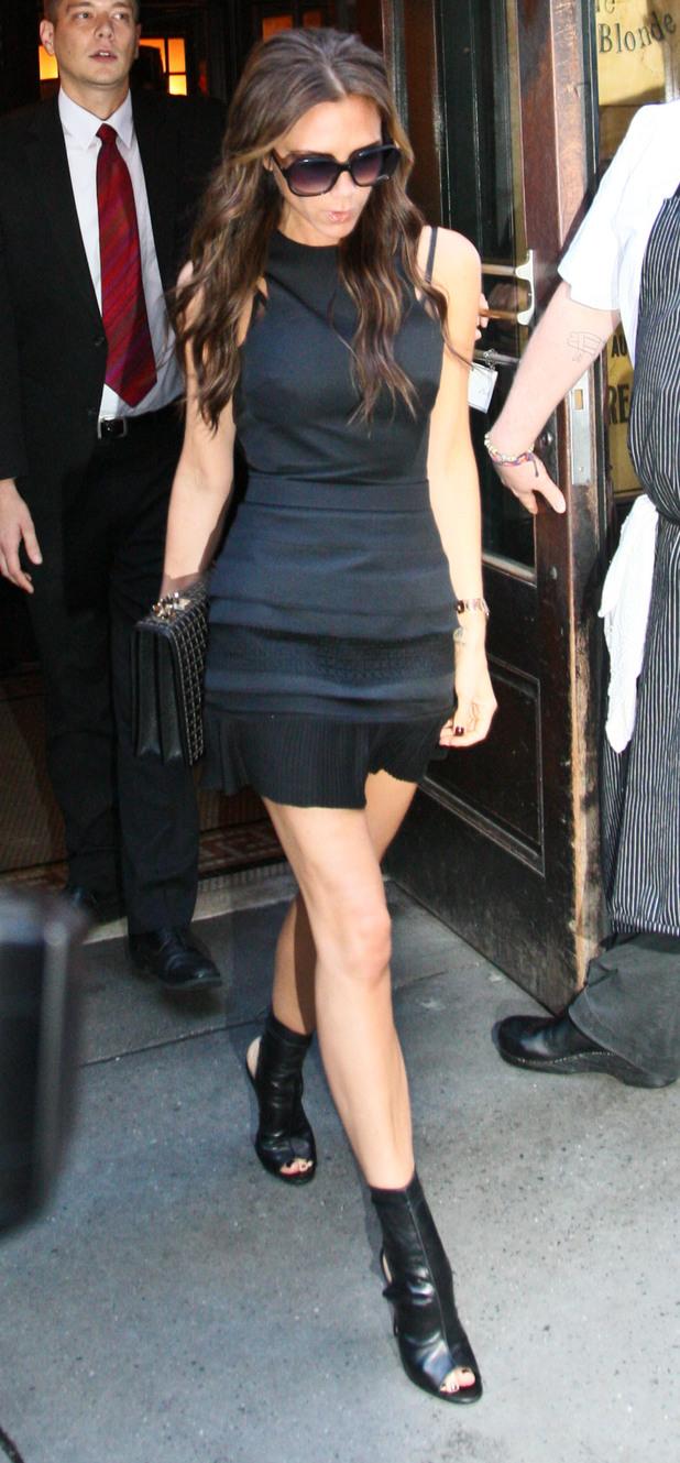 Victoria Beckham leaving the Balthazar restaurant in Soho, Manhattan