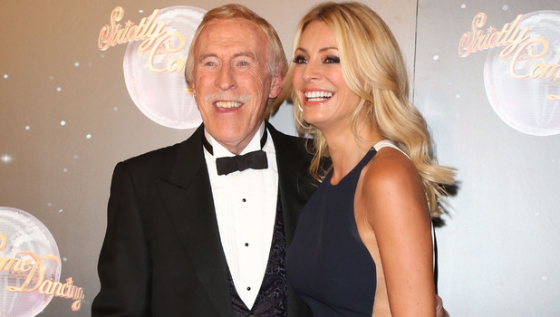 Sir Bruce Forsyth and Tess Daly Strictly Come Dancing 2012 launch - Arrivals London, England - 11.09.12Mandatory Credit: Lia Toby/WENN.com