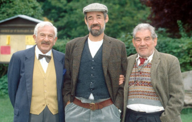 Vicar of Dibley - John Bluthal as Frank Pickle, Roger Lloyd Pack as Owen Newitt and Trevor Peacock as Jim Trott.