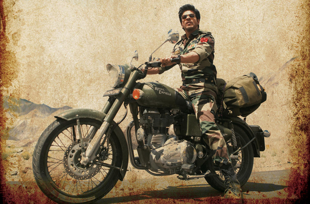 Shah Rukh Khan in a poster for &#39;Jab Tak Hain Jaan&#39;