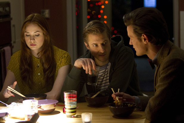Doctor Who S07E04 - 'The Power of Three': Amy Pond (KAREN GILLAN), Rory Williams (ARTHUR DARVILL), The Doctor (MATT SMITH)