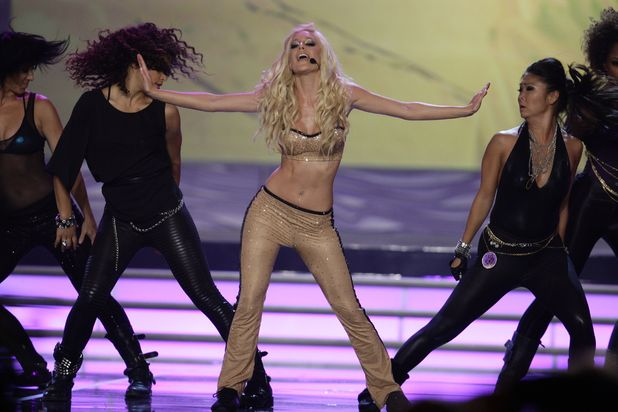 Reality Tv star Heidi Montag performs during the Miss Universe beauty pageant in Nassau, Bahamas, Sunday, Aug. 23, 2009.