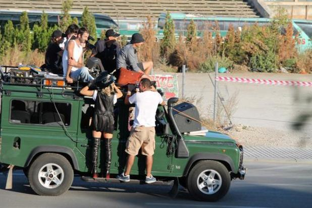 Rita Ora films her new music video in Kosovo