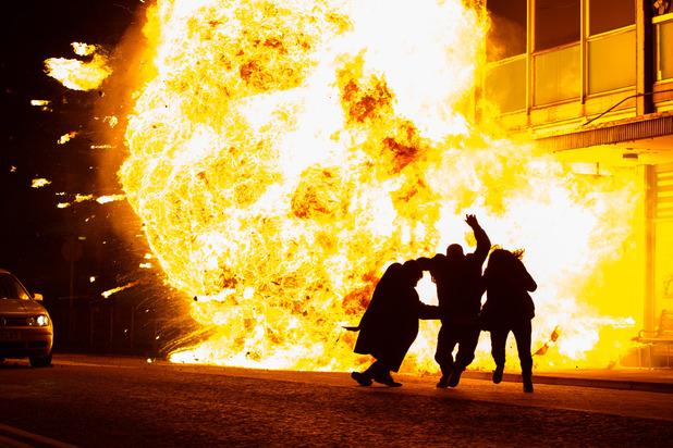 EastEnders Joey, Lauren Derek explosion