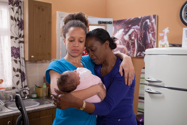 Kirsty gets a surprise visit from her mum Alison, who tells her that she has left her Kirsty's dad and moved into a refuge