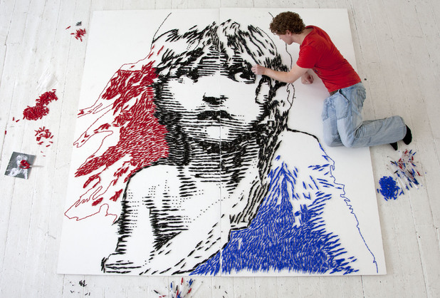 Artist recreates the famous French Cosette using empty Bic Cristal pens