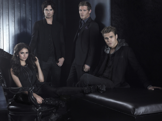 'The Vampire Diaries' Season 4 character portraits: Nina Dobrev as Elena, Ian Somerhalder as Damon, Joseph Morgan as Klaus, and Paul Wesley as Stefan.