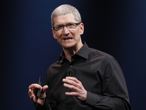 Apple CEO Tim Cook speaks during an Apple event in San Francisco, Wednesday, Sept. 12, 2012.