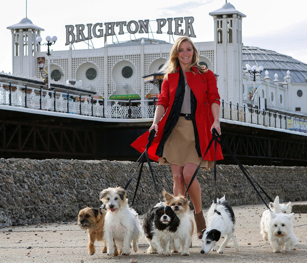 Jodie Kidd takes to Brighton Pier to announce Brighton as Britain's Most Dog Friendly Place