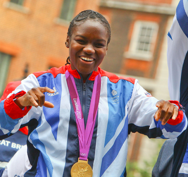 Nicola Adams The 2012 Olympic Celebration Parade London, England - 10.09.12 Mandatory Credit: WENN.com