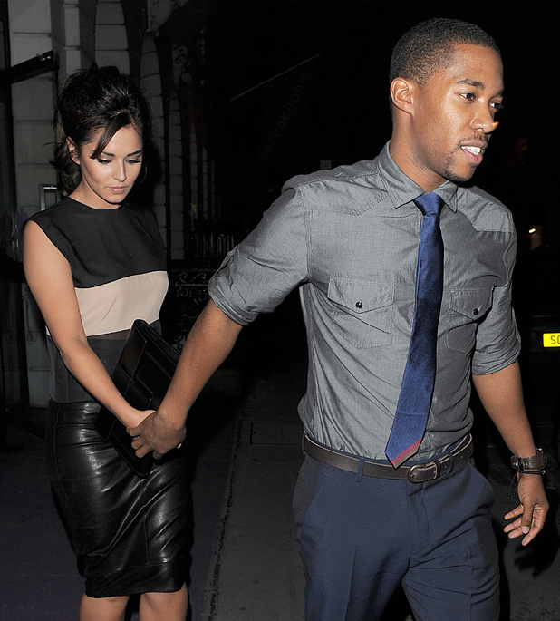 Cheryl Cole enjoys a late dinner with new beau Tre Holloway at Sumosan restaurant in Mayfair. The couple spent around 3 hours inside the restaurant, before leaving together in a chauffeur driven car. Cheryl appeared to be in great spirits, and there was no sign of the sling she was pictured wearing a few days before, as a result of a car accident she had while in Los Angeles.