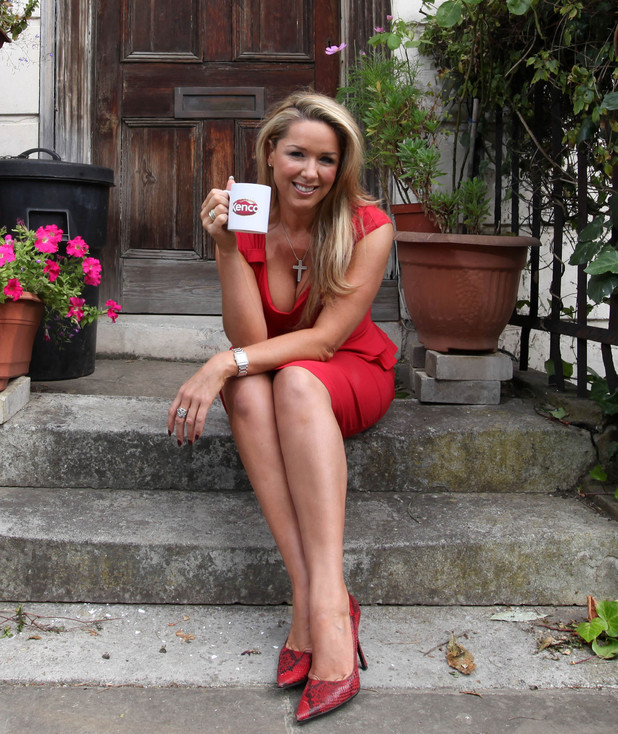 Claire Sweeney held a coffee morning in London to encourage the UK to Wake up and Smell the Coffee and register for Kenco and Macmillan's World's Biggest Coffee Morning - held Friday 28th September.