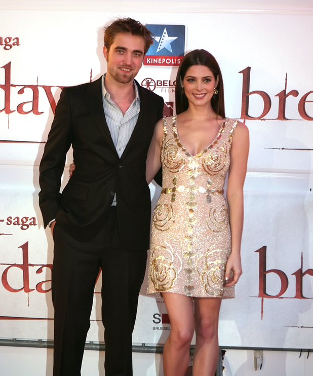 Robert Pattinson and Ashley Greene Fan event to promote 'The Twilight Saga: Breaking Dawn - Part 1' held at the Square Brussels, Belgium - 26.10.11 Credit: WENN.com