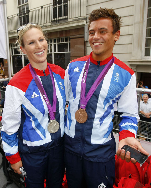 Tom Daley and Zara Phillips