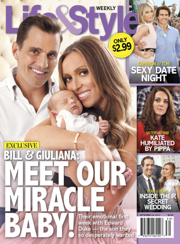Giuliana Rancic and Bill Rancic introduce their newborn son Edward Duke.