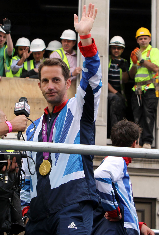 Ben Ainslie, London 2012 parade