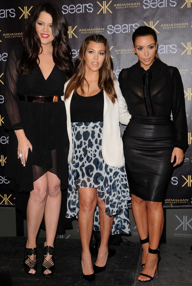 Kim Kardashian, Kourtney Kardashian and Khloe Kardashian celebrate the one year anniversary of the Kardashian Kollection.