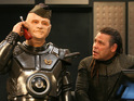 The first pictures from episode one of Red Dwarf X are released.