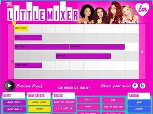 Little Mix 'Little Mixer' app screenshot.